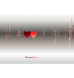 Fall in love heart beats cardiogram design vector