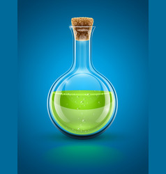 Glass chemical flask vector