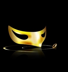 Yellow half mask vector