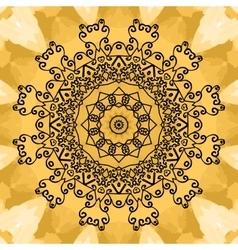 Mandala Print on seamless watercolor texture vector image
