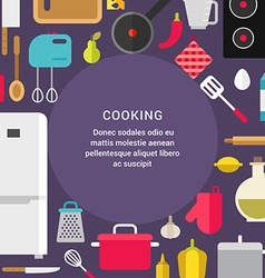 Cooking concept flat style with place for text vector