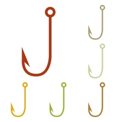 Fishing hook sign vector