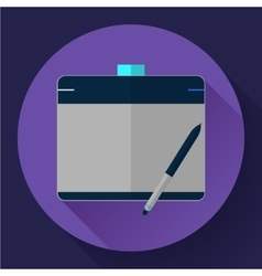 Graphic tablet icon cg artist and designer symbol vector