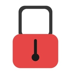 Black and red security lock graphic vector
