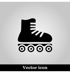 Roller skates sign icon on grey background vector
