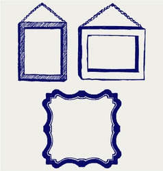 Three empty frame vector