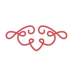 Red frame elegant icon vector