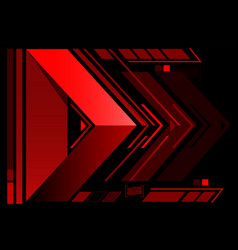 abstract red arrow technology vector image vector image