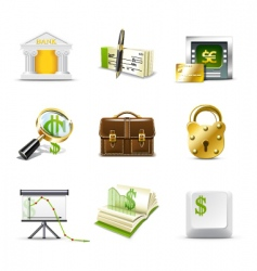 bank icons | bella series vector image vector image