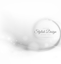 Beautiful swirl wave in white background vector