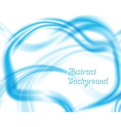 Blue and white waves abstract design vector