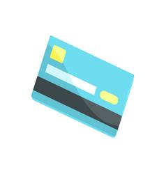 blue credit card cartoon vector image