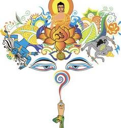 Buddha tree vector image