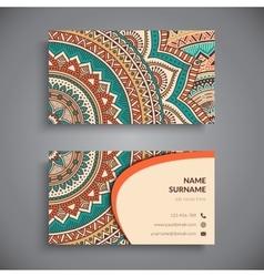 Business card Vintage decorative elements vector image vector image