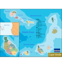 Cape verde map vector