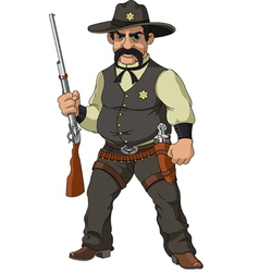 Cartoon sheriff vector image vector image
