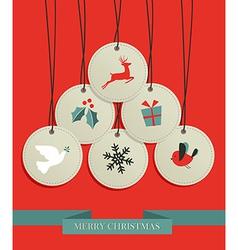 Christmas hang tags sale set vector image