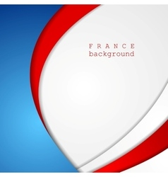 Corporate wavy bright abstract background French vector image vector image