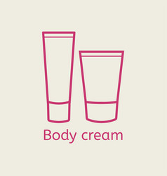 Cosmetic body cream icon vector