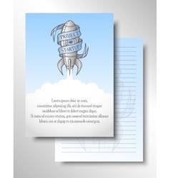 Cover brochure flyer template vector