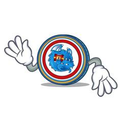 Crazy dragonchain coin mascot cartoon vector