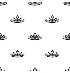 Diadem icon in black style isolated on white vector