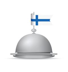 Finland flag dinner platter vector
