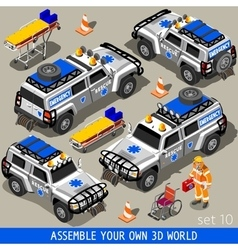 First aid 02 vehicle isometric vector