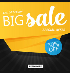 Flat sale banner template design vector