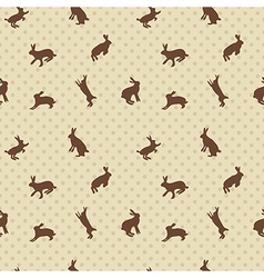 Hare rabbit seamless texture vector