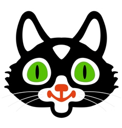 Head of black cats vector image vector image