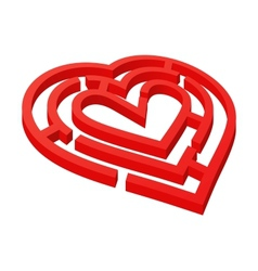 Heart shaped labyrinth vector image vector image