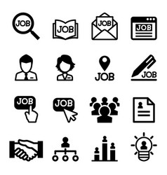 job icons set vector image