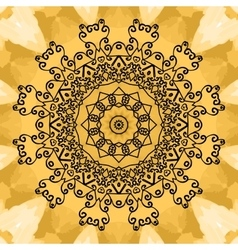 Mandala Print on seamless watercolor texture vector image vector image