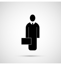 People design Icon man with briefcase vector image vector image