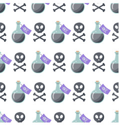 poison flat seamless pattern vector image vector image