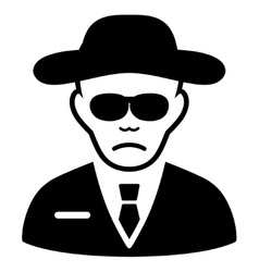 Security agent flat icon vector