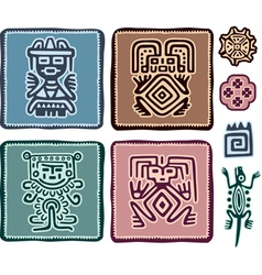 Set of Mexican Design Elements vector image vector image