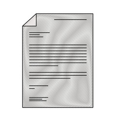 Sheet document in colored crayon silhouette vector