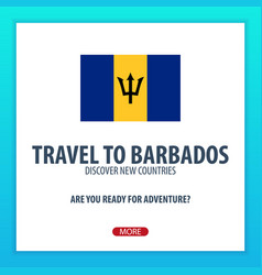 travel to barbados discover and explore new vector image