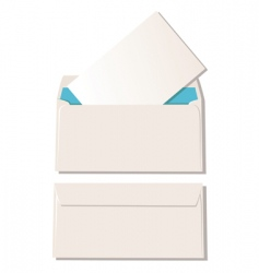 two envelopes vector image
