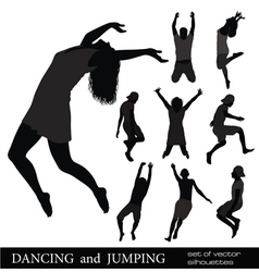 Dancing and jumping vector