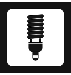 Energy saving fluorescent light bulb icon vector