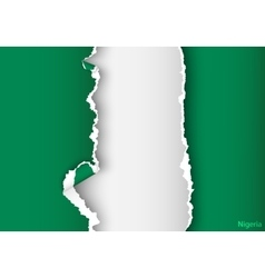 Design flag nigeria from torn papers with shadows vector