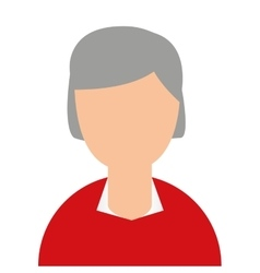 Grandmother head isolated icon vector