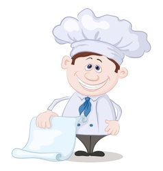 Cook with blank for your text vector image