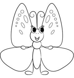 Cartoon butterfly vector image