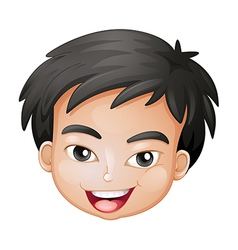 Face of a boy vector image