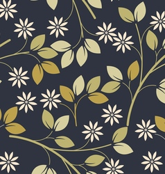 Spring seamless pattern with decorative flowers vector