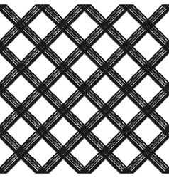 Seamless pattern with diagonal cage vector image